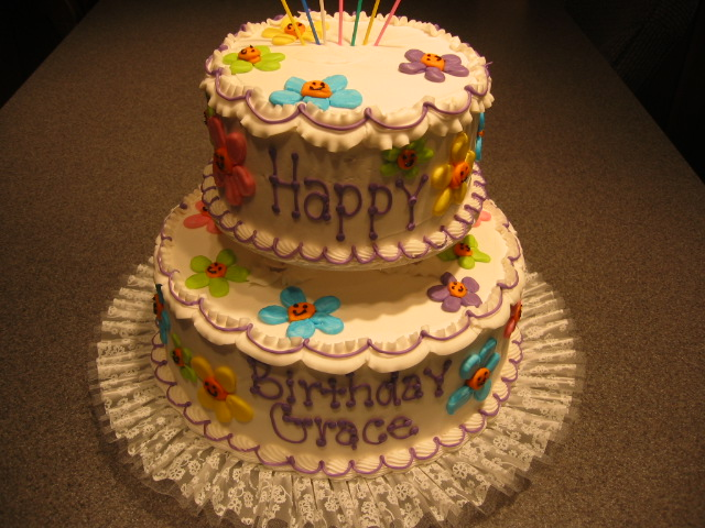 2 tier birthday cakes