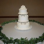 3 Tier Triple Dot With Mound of Roses