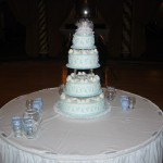 4 Tier Blue Scroll Extended Pins