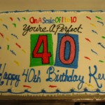 40th Birthday Sheet Cake