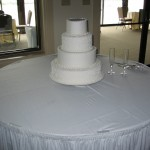 Cornelli Lace and Swiss Dot Cake on Cake
