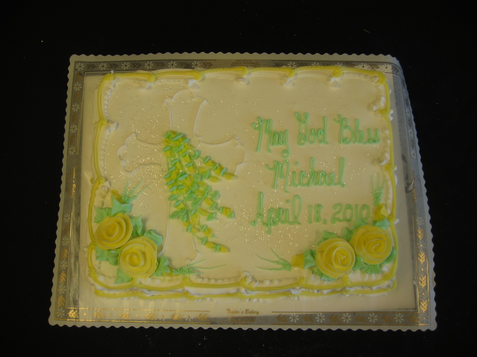 Christening Communion Amp Confirmation Cakes 171 Taylor S Bakery