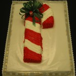 Candy Cane Shaped Cake