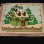 Christmas Cabin Cake
