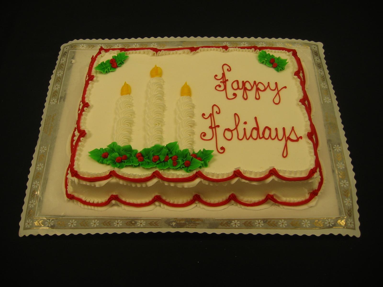 Christmas Cakes « Taylor\'s Bakery