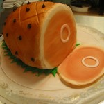 Holiday Ham Shaped Cake