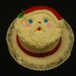 Santa Face 2 Layer Cake