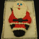 Santa Shaped Cake