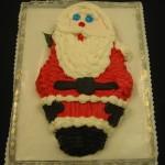 Santa Shaped Cake