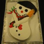 Snowman Shaped Cake