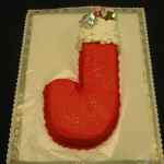Stocking Shaped Cake